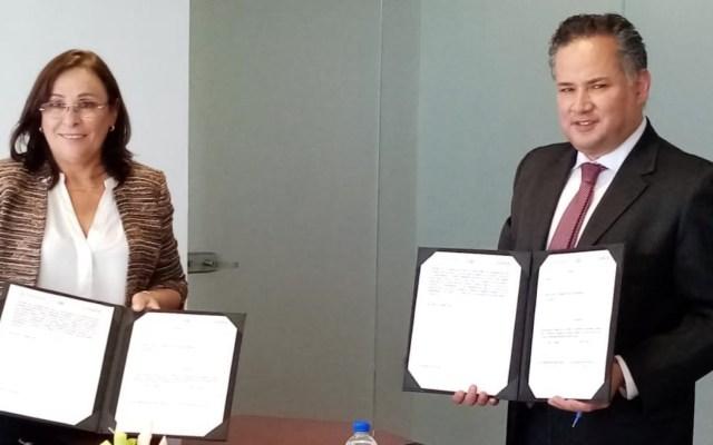 Sener y UIF firman convenio de intercambio de información - Foto de @SNietoCastillo