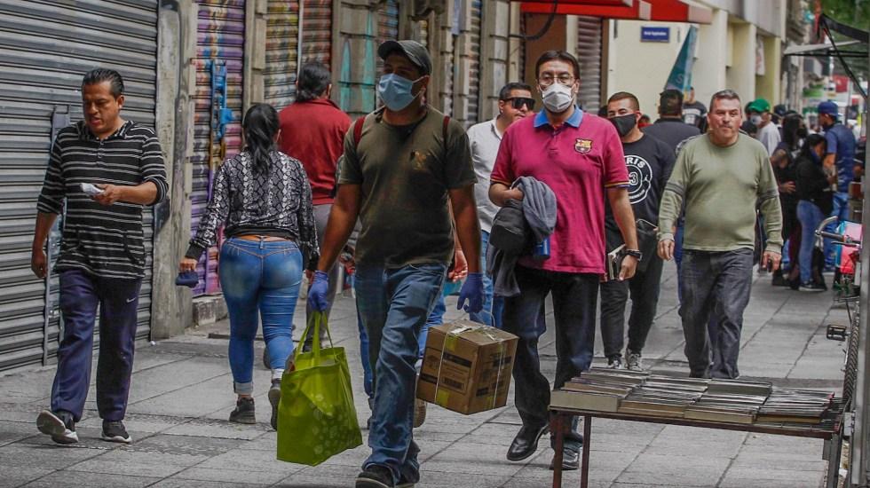 En últimas 24 horas, México registró 3 mil 763 nuevos casos de COVID-19 y 205 muertes - covid-19 coronavirus México Ciudad cubrebocas calle