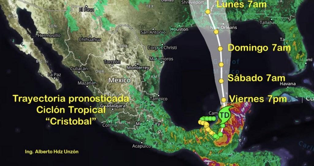 Cristóbal vuelve a convertirse en tormenta tropical; avanza hacia EE.UU. - Foto de ingeniero Alberto Hernández Unzón