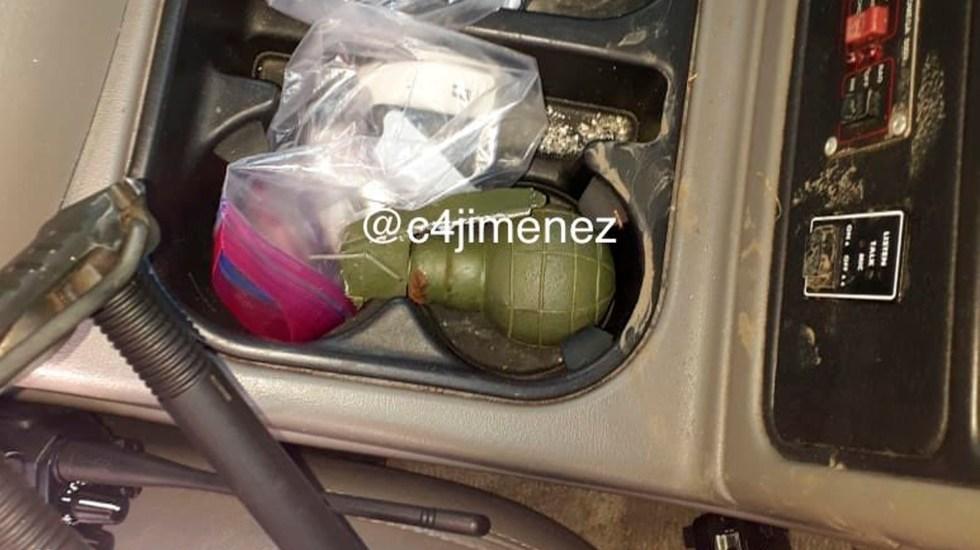 #FOTO Interior de camioneta donde viajaban atacantes de García Harfuch - granada atentado García Harfuch