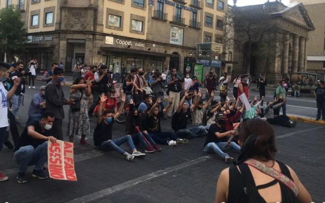 """""""La violencia no es el camino"""": AMLO llama a manifestantes en Jalisco a no caer en provocaciones - Jalisco Guadalajara Giovanni Lopez protestas"""