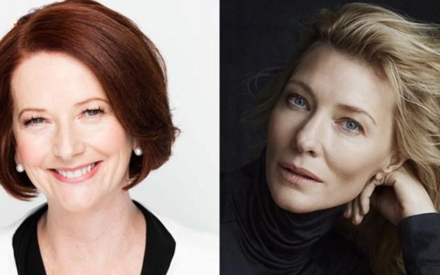 Cate Blanchett sufre accidente con motosierra, asegura que se encuentra bien - Julia Gillard y Cate Blanchett