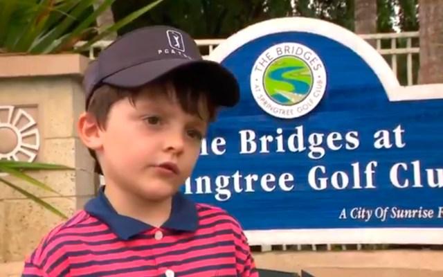 Niño de cinco años de Florida logra un hoyo en uno - niño golf hoyo en uno