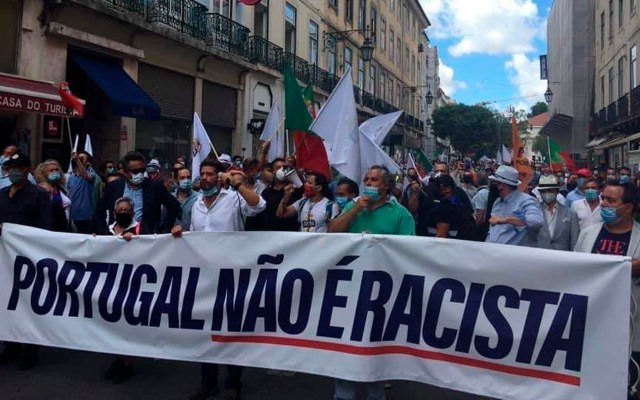 Cerca de mil personas protestan en Lisboa contra racismo - protesta Lisboa