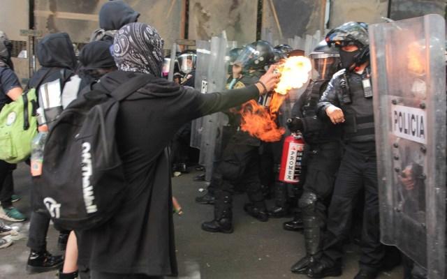 Sheinbaum envía oficios a Fiscalía y CDH por agresión de policías a menor - Protestas 5 de junio Ciudad de México
