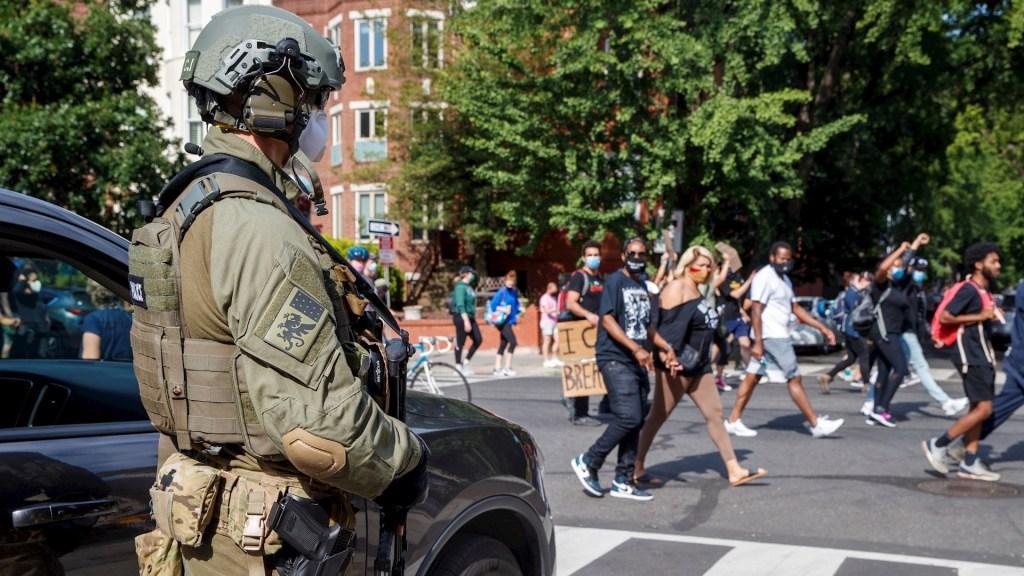 Movilizan a mil 600 militares a bases en la región de Washington DC - Protestas Washington Estados Unidos George Floyd 3
