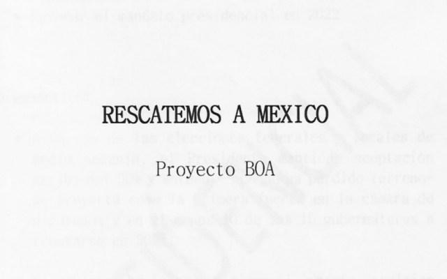 Fuera máscaras, no tiene nada de malo: AMLO sobre el BOA - Proyecto BOA México López Obrador