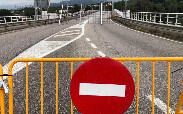 España reabrirá fronteras con países de la UE el 21 de junio - Puente internacional de Salvaterra do Miño, uno de los puntos fronterizos con Portugal. Foto de EFE