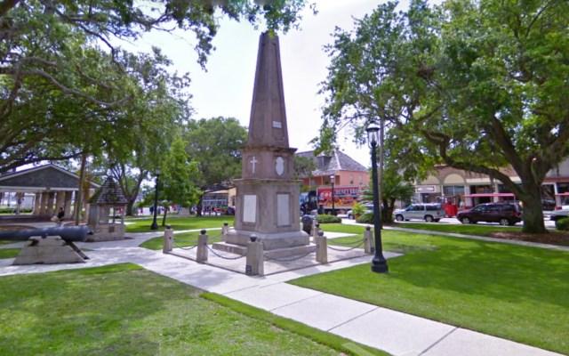 La ciudad más antigua de EE.UU. removerá histórico obelisco - St. Augustine Florida monumento confederado histórico