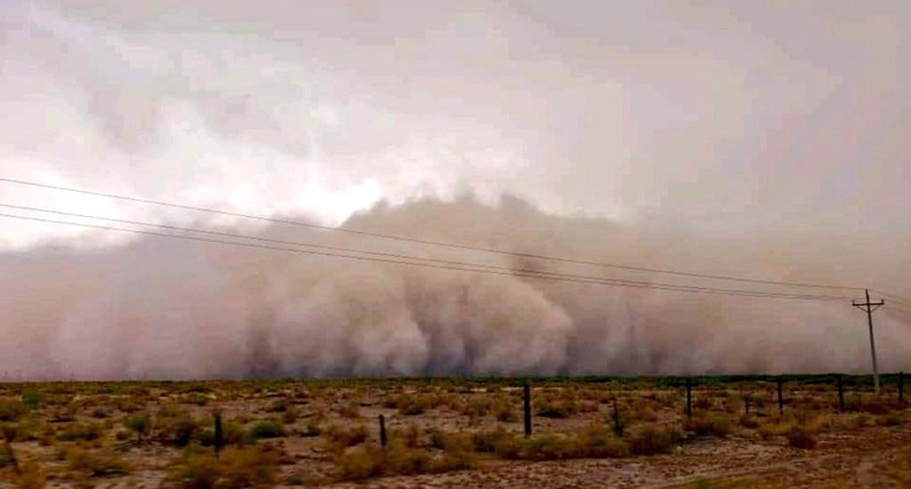Tormenta de arena en Chihuahua