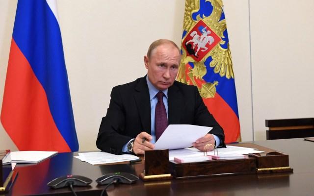 Trump y Putin hablan sobre pandemia y soluciones a carrera de armamento - Vladimir Putin. Foto de @KremlinRussia