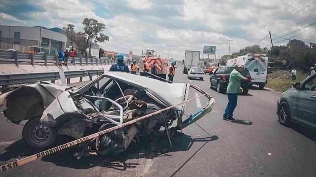 Mueren cinco personas tras accidente en Querétaro - Foto de Control Querétaro