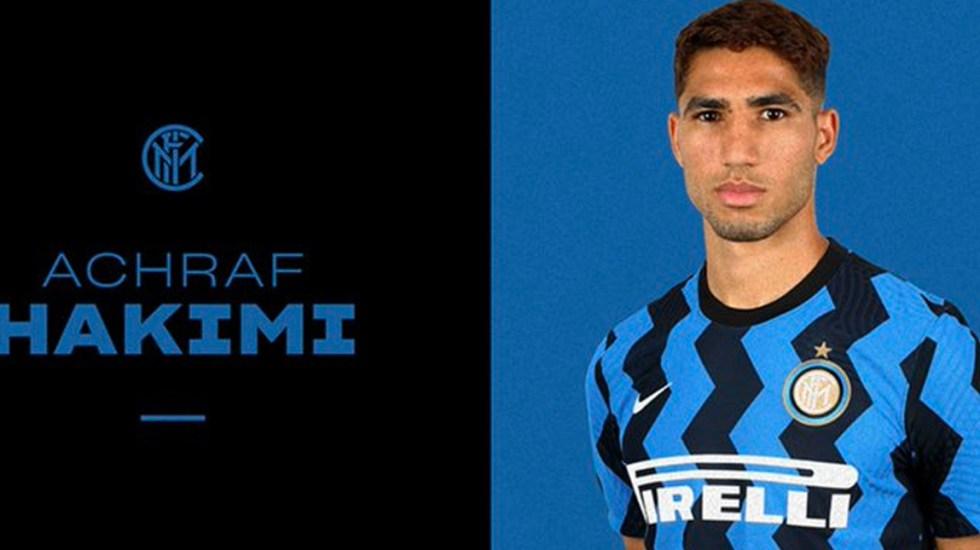 Real Madrid e Inter confirman traspaso de Achraf Hakimi al club italiano - Achraf Hakim, nuevo jugador del Inter de Milán. Foto de Inter