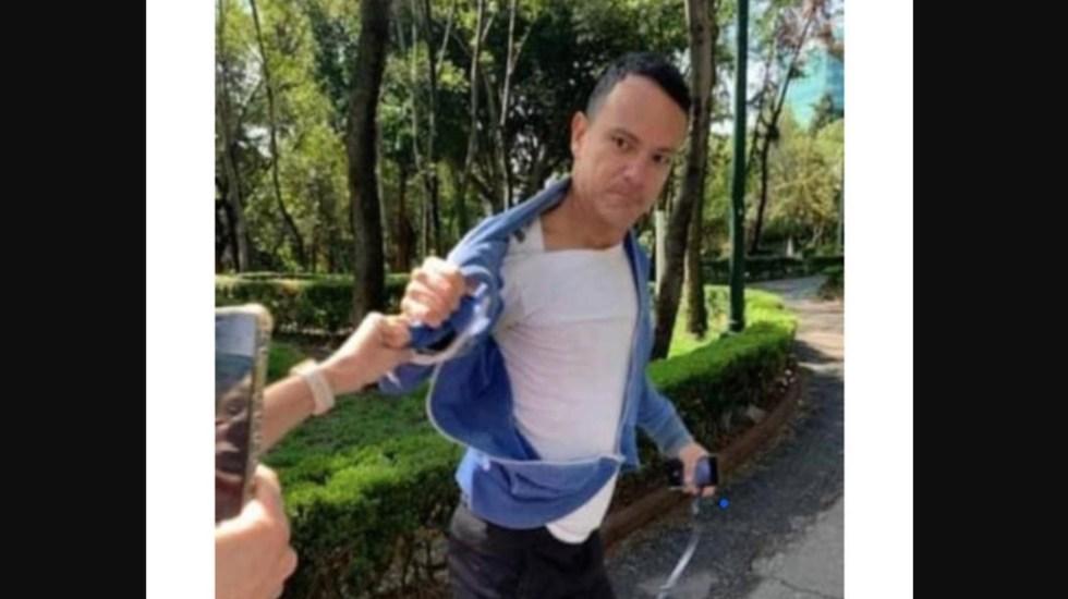 Testimonio de la mujer que fue golpeada por este sujeto en el Parque Hundido - Rolando 'F', acusado por agredir a mujeres en el Parque Hundido. Captura de pantalla