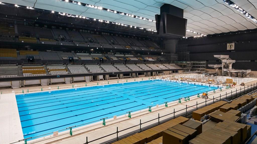 Tokio garantiza sedes y Villa Olímpica de 2020 para 2021 - Alberca olímpica para Tokio 2021. Foto de @tokyo2020