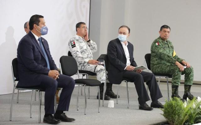Alfonso Durazo asegura que el Cártel Santa Rosa de Lima está debilitado - Alfonso Durazo en conferencia matutina desde Guanajuato. Foto de Presidencia de la República