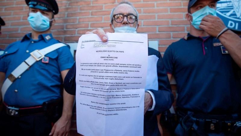 """Yo, Ennio Morricone, he muerto"": la carta de despedida del compositor italiano - carta-muerte-ennio-morricone"
