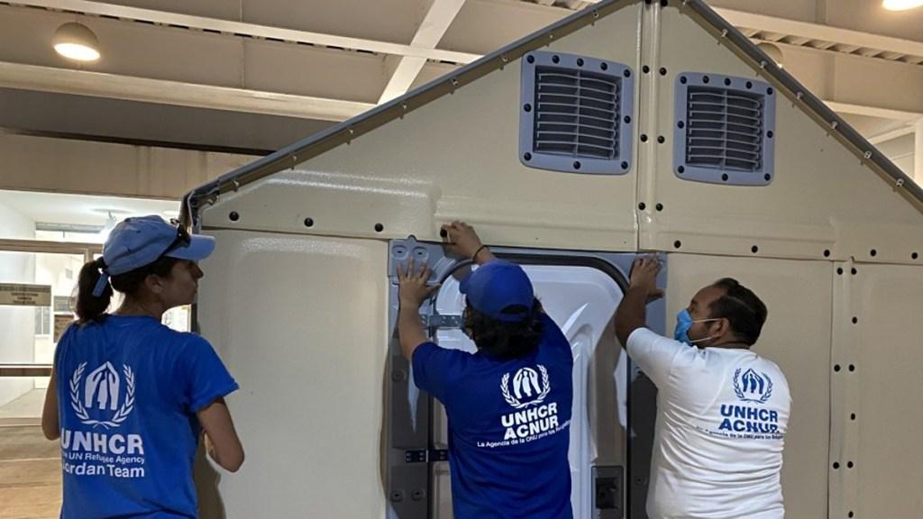 Acnur instala 48 viviendas para refugiados en México - Casas para refugiados de Acnur. Foto de EFE