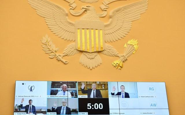 Gigantes tecnológicos niegan acusaciones de monopolio ante el Congreso de EE.UU. - Congreso Estados Unidos comparecencia tecnología monopolio gigantes tecnológicos