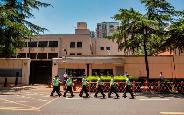 Relación de China y EE.UU. en su peor momento tras el cierre de consulados - Consulado de EE.UU. en Chengdu, China. Foto de EFE