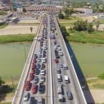 Tamaulipas no recibe respuesta de la SRE para cerrar frontera a cruces no esenciales - Cruce internacional de Texas a Tamaulipas. Foto de Gobierno de Tamaulipas