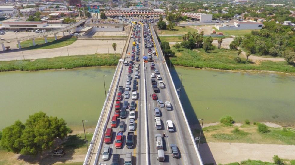 Refuerzan operativo para evitar viajes no esenciales de Texas a Tamaulipas - Cruce internacional de Texas a Tamaulipas. Foto de Gobierno de Tamaulipas