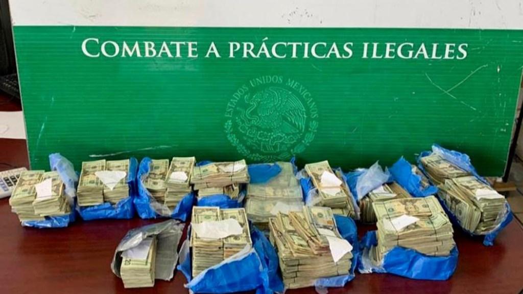 Decomisan en aduana de Matamoros más de 375 mil dólares - Dólares que se pretendían ingresar de forma ilegal a México por la Frontera Norte. Foto de SHCP