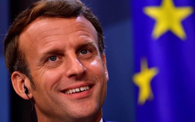 Emmanuel Macron resalta beneficios para Francia con acuerdo de la UE - Emmanuel Macron en último día de reunión del Consejo Europeo. Foto de EFE