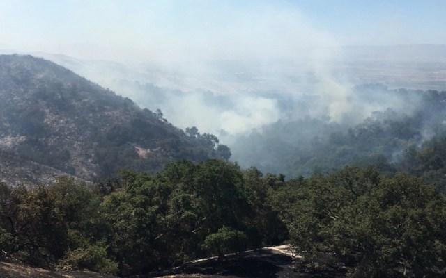 Primer gran incendio de la temporada obliga al desalojo de 70 personas en California - Foto de @KRON4RFladeboe