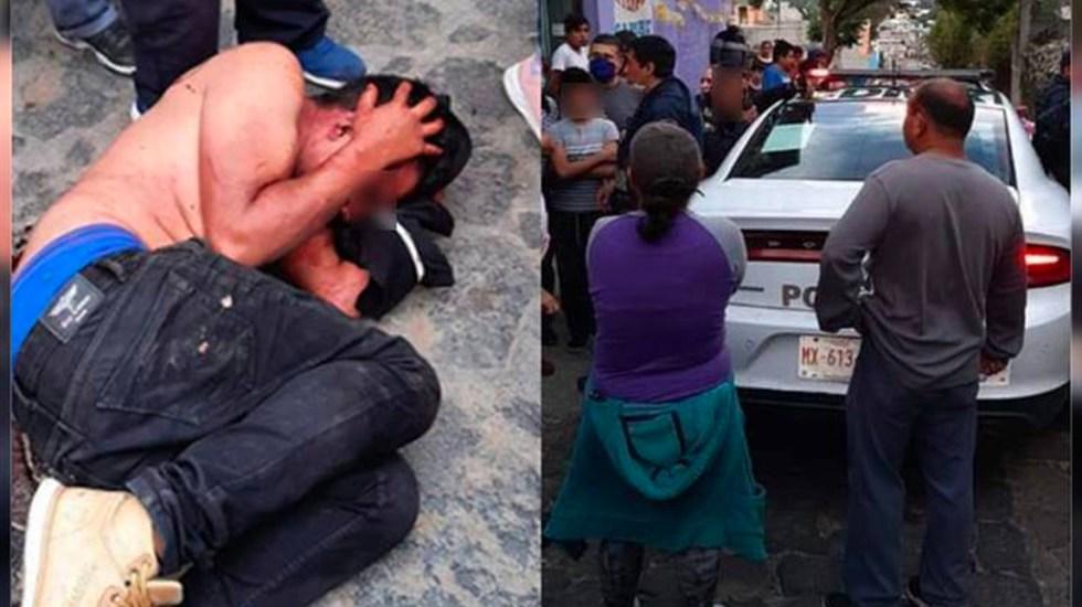 Policías capitalinos se enfrentan con habitantes de Milpa Alta para rescatar a hombre de linchamiento - Intento de linchamiento en Milpa AltaIntento de linchamiento en Milpa Alta