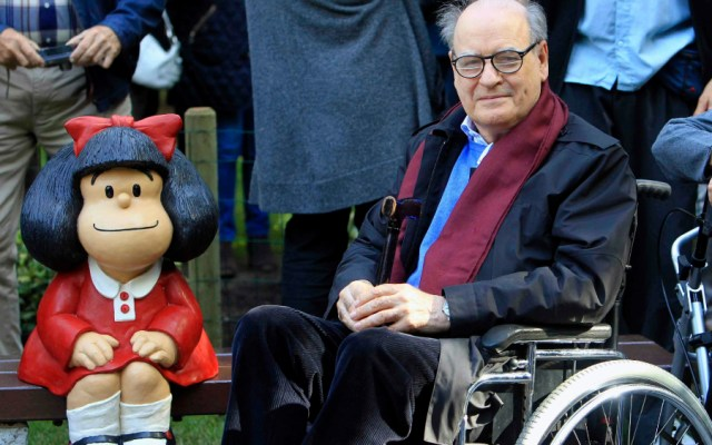 El dibujante argentino 'Quino', creador de Mafalda, cumple 88 años de edad - Foto de EFE