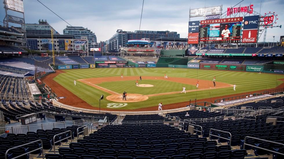 Beisbol de las Grandes Ligas regresa en medio de pandemia sin aficionados en las gradas - MLB Nationals park estadio beisbol