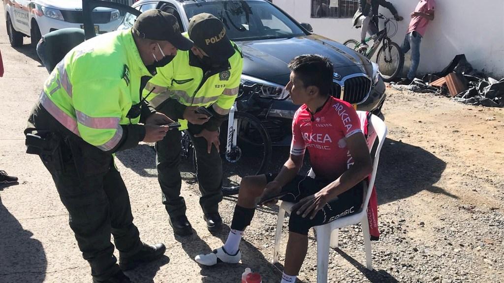 Ciclista Nairo Quintana ileso tras ser atropellado en Boyacá - Nairo Quintana Ciclista ciclismo
