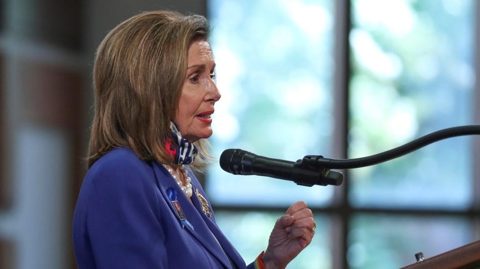 Pelosi aclara a Trump que solo el Congreso puede cambiar día de las elecciones - Presidenta del Congreso de Estados Unidos, Nancy Pelosi. Foto de EFE
