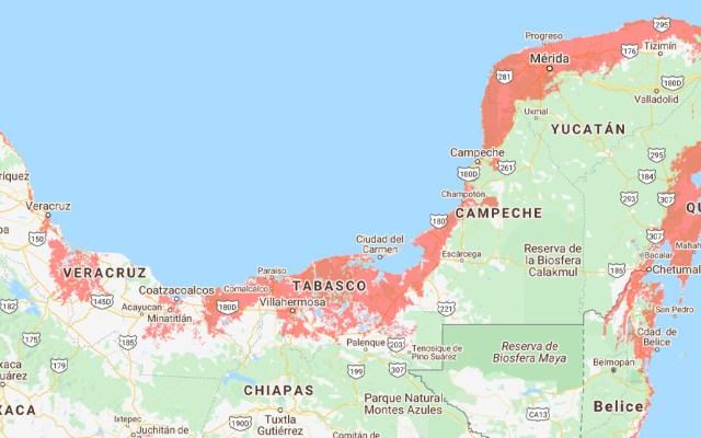 Incremento del nivel del mar pone en peligro a la Península de Yucatán - Nivel del mar, Península de Yucatán