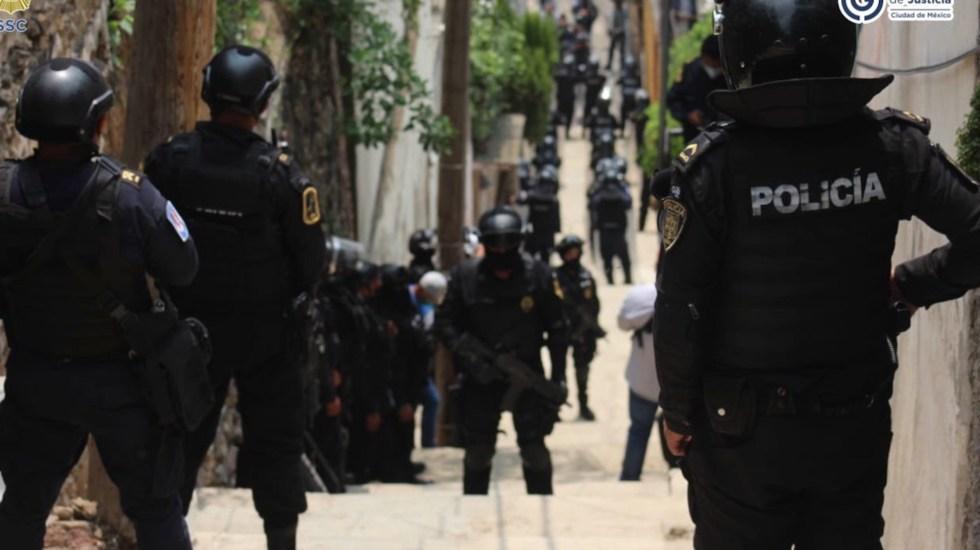 Detienen a 14 personas tras seis cateos en Xochimilco - Foto de Twitter Omar García Harfuch