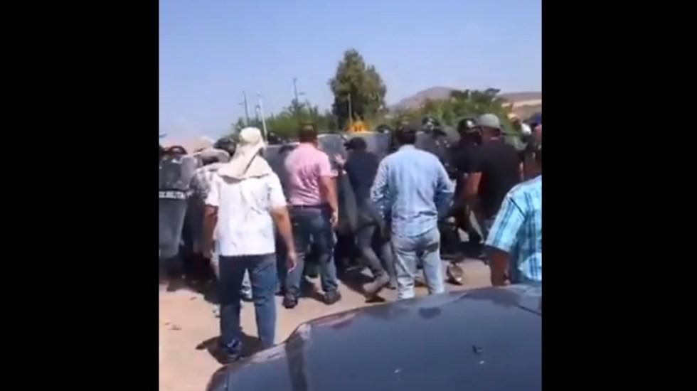 Campesinos y elementos federales chocan en Chihuahua por extracción de agua en presa Las Vírgenes - Presa Las Vírgenes Chihuahua gresca campesinos