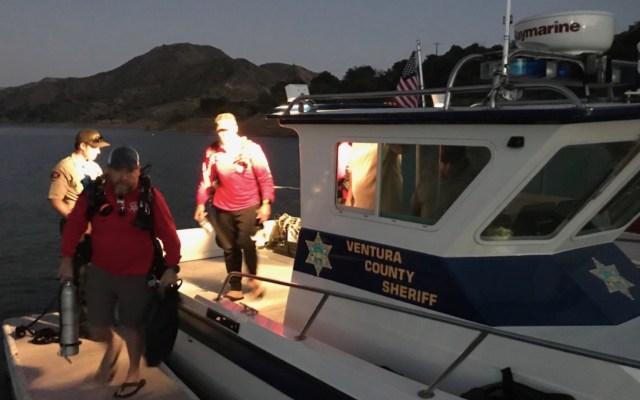 Encuentran cuerpo cerca de donde desapareció la actriz Naya Rivera - Imagen del equipo que buscó el cuerpo de la actriz Naya Rivera en el lago Pire. Foto de la Oficina del Condado de Ventura