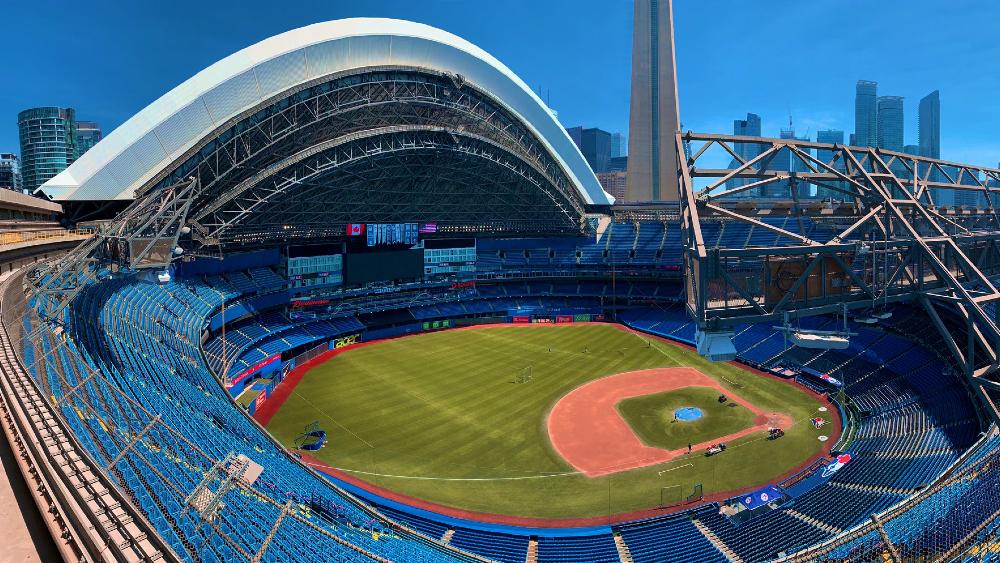 Canadá no permitirá que Azulejos jueguen en Toronto debido al coronavirus - Rogers Centre de Toronto, Canadá. Foto de Toronto Blue Jays