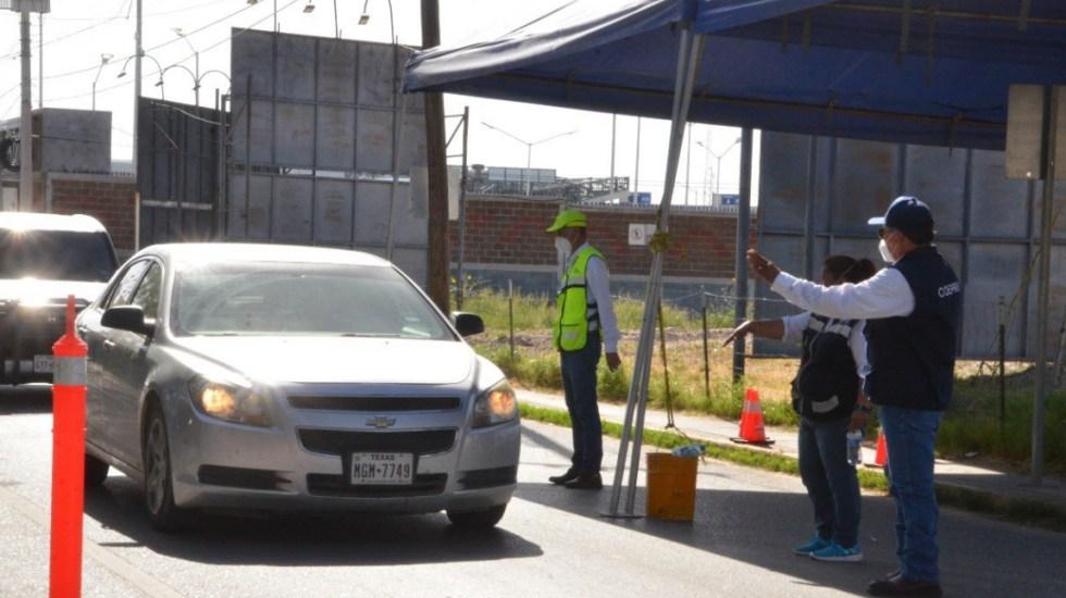 México plantea a EE.UU. extender cierre fronterizo por COVID-19, anuncia Ebrard - Tamaulipas filtro sanitario Texas frontera cruce