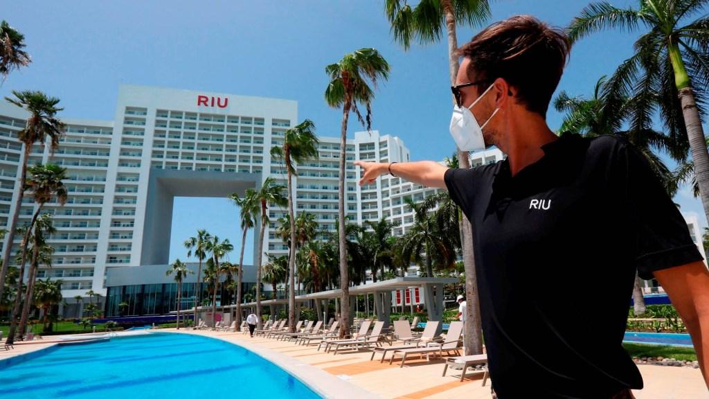 Turismo internacional en México cayó un 44.3 % interanual en diciembre - Turismo México hotel Hotel Riu Palace Península Cancún Quintana Roo