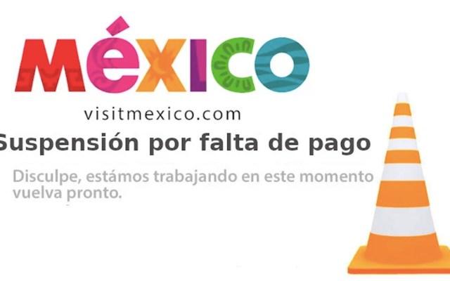 Sectur desconoce qué provocó la suspensión del sitio Visit Mexico - Captura de pantalla