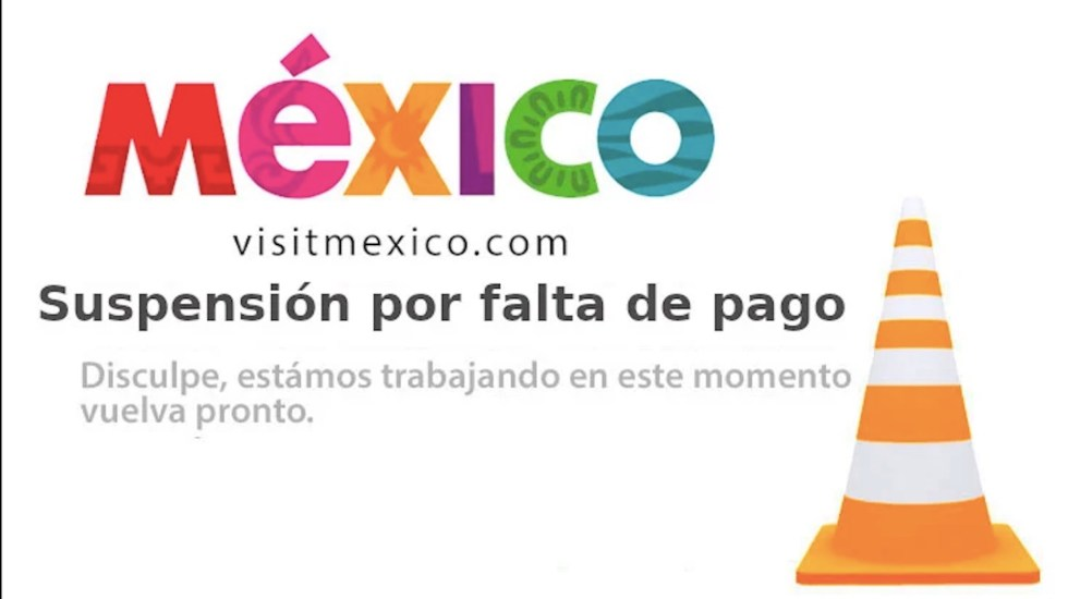 Página web de Visit México fue hackeada, confirma empresa administradora - Captura de pantalla