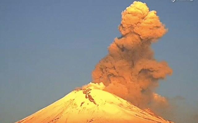 #Video Popocatépetl registra exhalación de baja intensidad - volcán Popocatépetl
