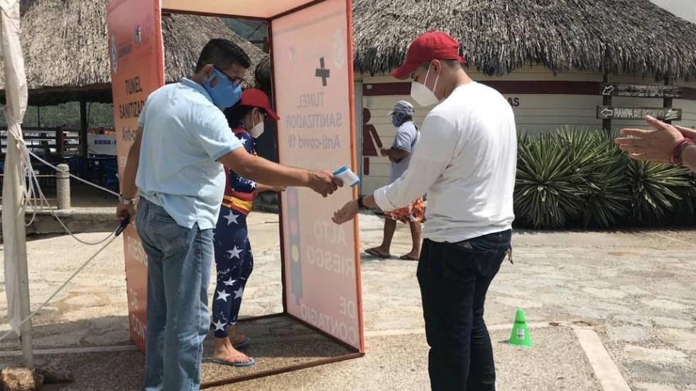 Semáforo COVID-19: Diez estados en color amarillo, Colima, el único en rojo - Acapulco Guerrero tunel desinfectante COVID-19 2