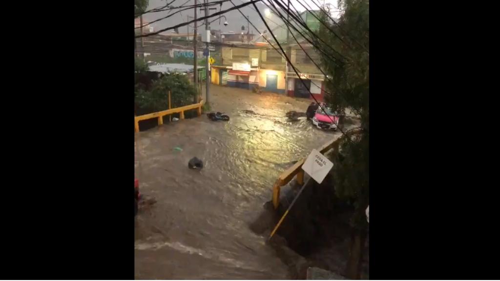 Lluvias provocan severas inundaciones en Tlalpan y Xochimilco - Afectaciones Tlalpan 05082020 Ciudad de México