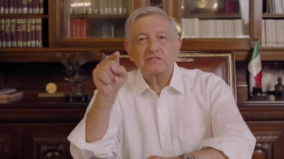 """Asegura López Obrador que son """"justicia con progreso"""" generación de empleos por megaproyectos - Andrés Manuel López Obrador. Captura de Pantalla."""