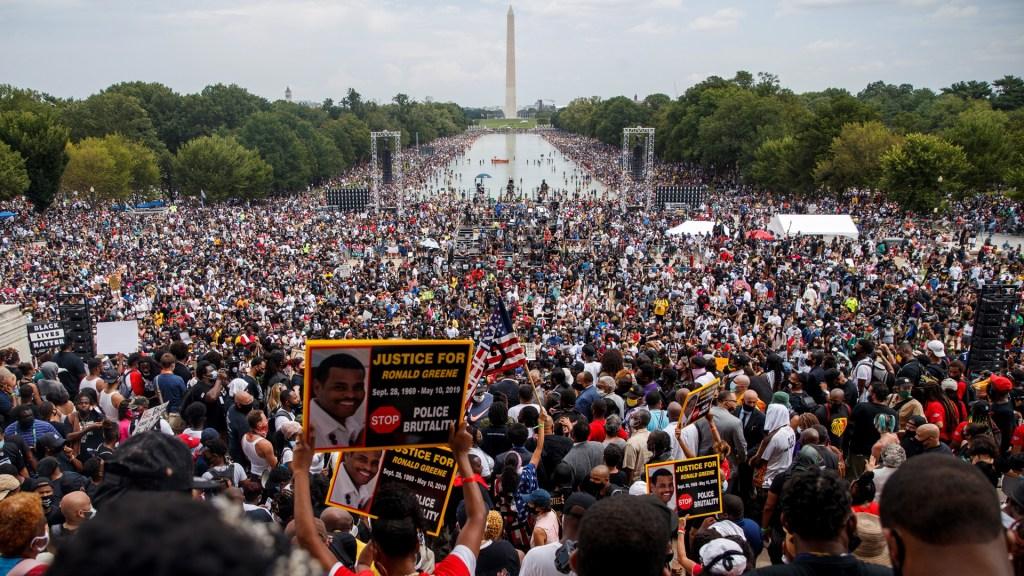 Claman justicia ante el racismo en aniversario de Marcha sobre Washington de Luther King - Aniversario de Marcha sobre Washington en EE.UU. Foto de EFE