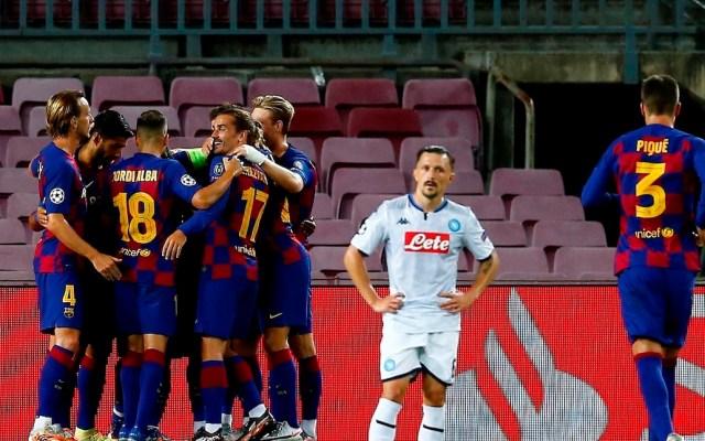 Barcelona pasa a cuartos de Champions League gracias a un buen primer tiempo - Foto de EFE/Enric Fontcuberta.