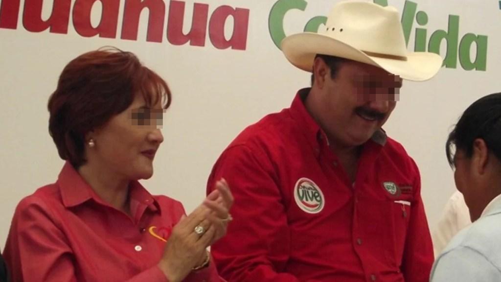 Libran orden de aprehensión contra esposa de César Duarte - César Duarte y su esposa. Foto de El Universal